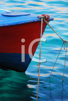 Royalty Free Photo of a Bow of a Boat