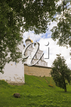 The ancient Kremlin in the city of Pskov.