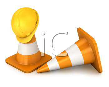 Royalty Free Clipart Image of Pylons