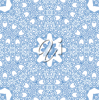 Background with abstract blue pattern on white