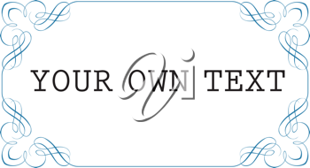 Royalty Free Clipart Image of a Frame With Space for Text