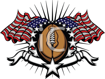 Royalty Free Clipart Image of a Football Logo