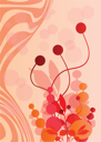 Royalty Free Clipart Image of an Abstract Floral Design