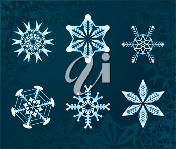 Royalty Free Clipart Image of Snowflakes