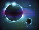 Royalty Free Clipart Image of an Eclipse Background