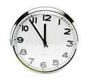 Clock isolated over white