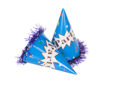 Close-up of two party hats