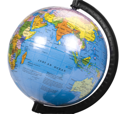 Close-up of a desktop globe