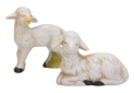 Close-up of figurines of sheep and a lamb