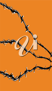 Royalty Free Clipart Image of a Barbwire Background