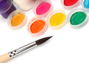 Paint brush and colors
