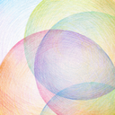 Abstract color pencil scribbles background. Paper texture.