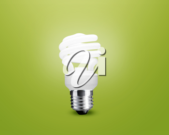 Royalty Free Photo of an Energy Saving Light Bulb
