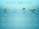 New year 2013 Calendar with conceptual image of angelfish in fishbowl.