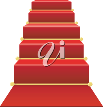 Staircase with red carpet