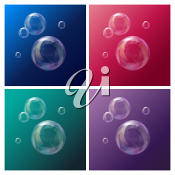 Royalty Free Clipart Image of a Soap Bubbles