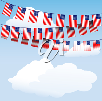 Royalty Free Clipart Image of Stars and Stripes Bunting