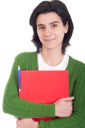 Royalty Free Photo of a Woman Holding a Dossier