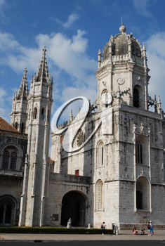 Royalty Free Photo of a Hieronymites Monastery in Lisbon Portugal