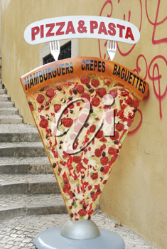 Royalty Free Photo of a Pizza and Pasta Sign
