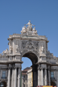 Royalty Free Photo of Commerce Square in Lisbon, Portugal