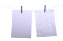 Royalty Free Photo of Notes on a Clothesline
