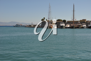 Royalty Free Photo of Kos Harbour in Greece