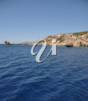 Royalty Free Photo of an Island Off of Greece