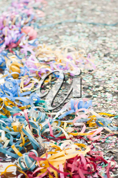 Royalty Free Photo of Colorful Confetti and Streamers