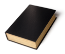 Royalty Free Photo of a Hardcover Black Book
