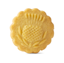 One decorated traditional  butter biscuit isolated on white background