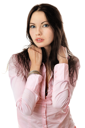 Royalty Free Photo of a Girl in a Pink Shirt