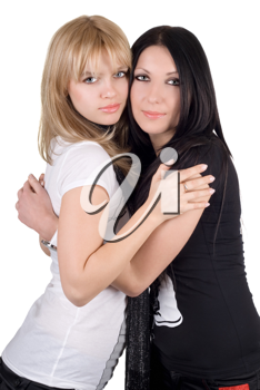 Royalty Free Photo of Two Women Embracing