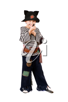 Royalty Free Photo of a Boy Dressed as a Pirate