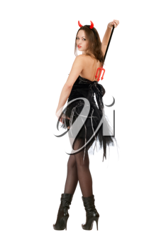 Royalty Free Photo of a Girl in a Devil's Costume