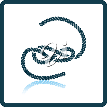 Knoted rope  icon. Shadow reflection design. Vector illustration.