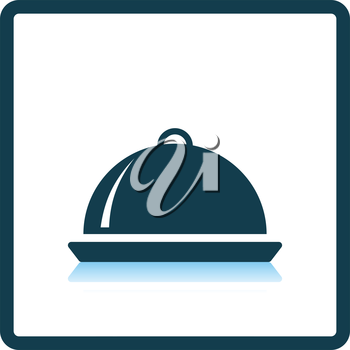 Restaurant  cloche icon. Shadow reflection design. Vector illustration.