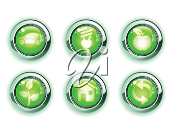 Royalty Free Clipart Image of Ecology Icon Sets