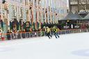 Workers removes snow on the rink in the Dutch city of Eindhoven. Netherlands
