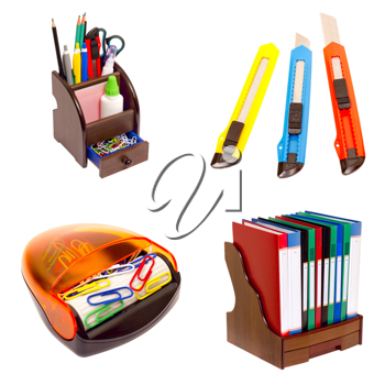 Royalty Free Photo of a Collage of Office Equipment