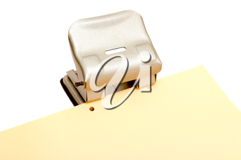 Royalty Free Photo of a Paper Hole Punch