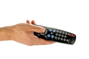 Royalty Free Photo of a Person Holding a Remote Control