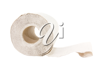 Royalty Free Photo of a Roll of Toilet Paper