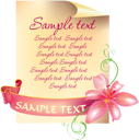 Royalty Free Clipart Image of a Floral Page