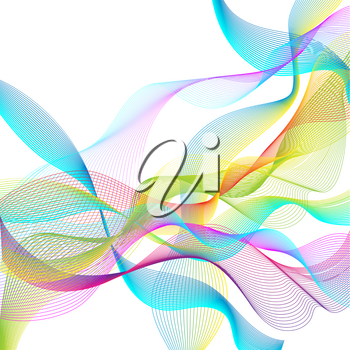 Abstract vector background for design, abstract vector waves.