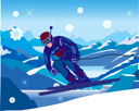 Royalty Free Clipart Image of a Skier