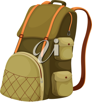 Schoolbag backpack on a white background
