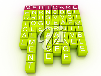 Royalty Free Clipart Image of a Medicare Word Cloud