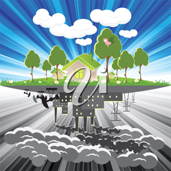 Royalty Free Clipart Image of a Pollution Illustration