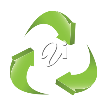 Royalty Free Clipart Image of the Recycling Sign